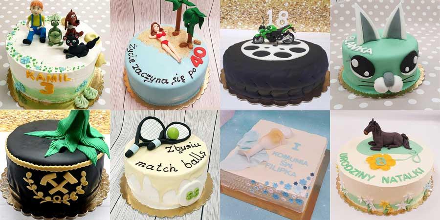 Przykłady różnorodnych tortów przygotowywanych w Cukierni JoAsia